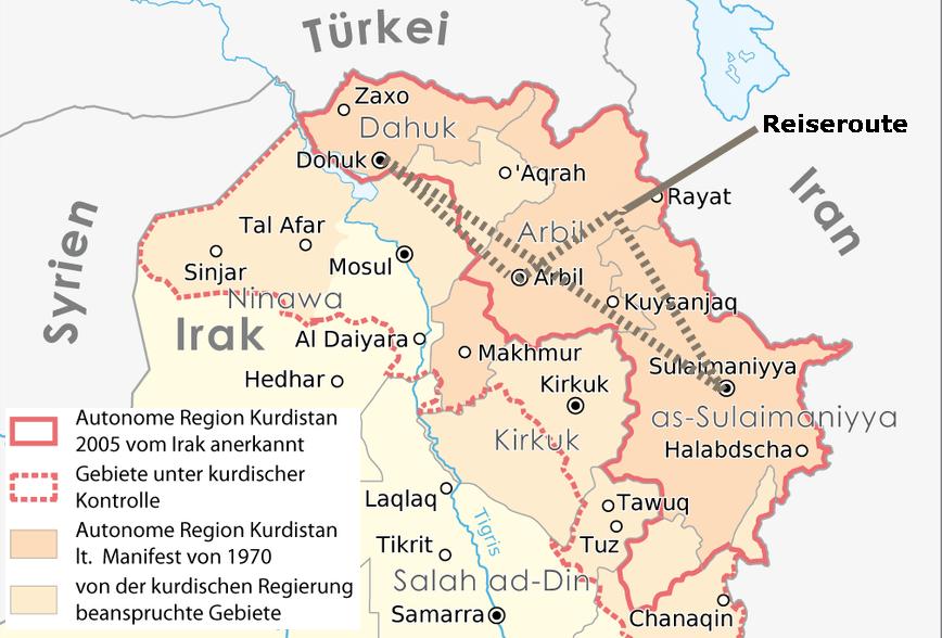 Syrien Irak Karte.Eine Reise Durch Irakisch Kurdistan Irak Nahostcast