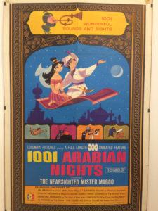Kinoplakat mit orientalistischen Bildern