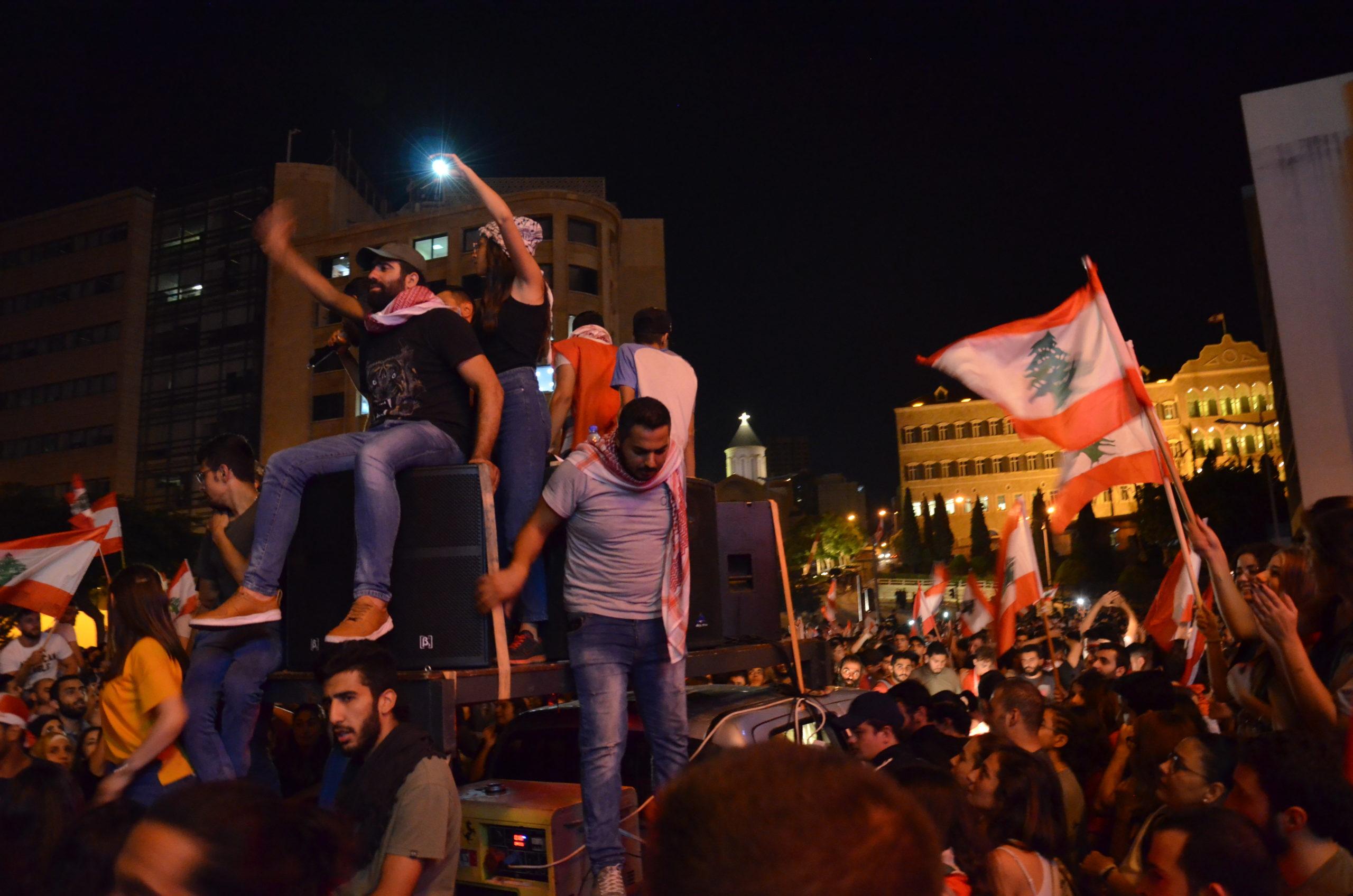 Kunst und Musik bei den Protesten im Libanon