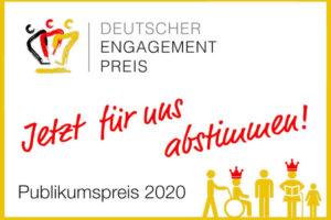 Read more about the article Nominierung Deutscher Engagement Preis 2020